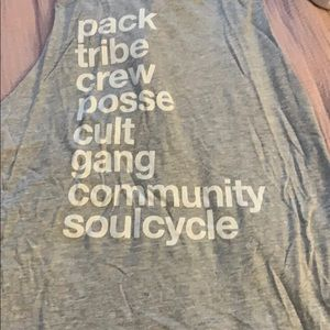 Gray SoulCycle tank